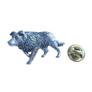 Border Collie Lapel Pin Badge
