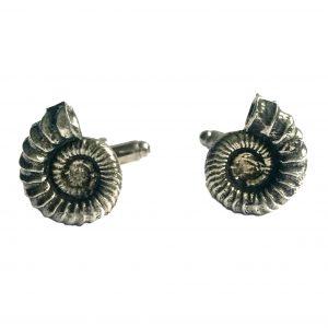 ammonite (fossil) cufflinks