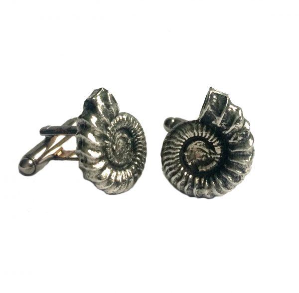 Ammonite (Fossil) Cufflinks b