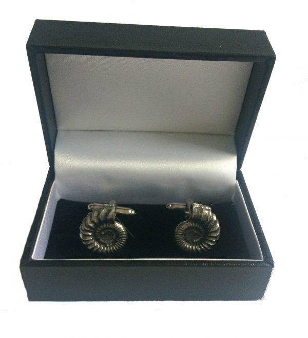 Ammonite (fossil) Cufflinks c