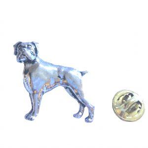 Boxer Dog Lapel Pin Badge
