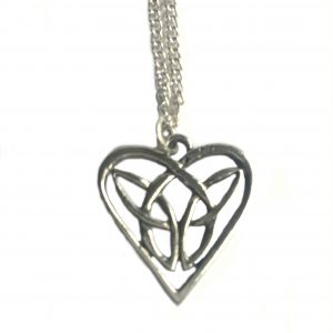 Celtic Interlaced Heart Necklaces