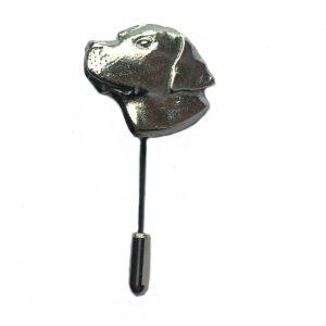 Labrador Head Lapel Stick Pin