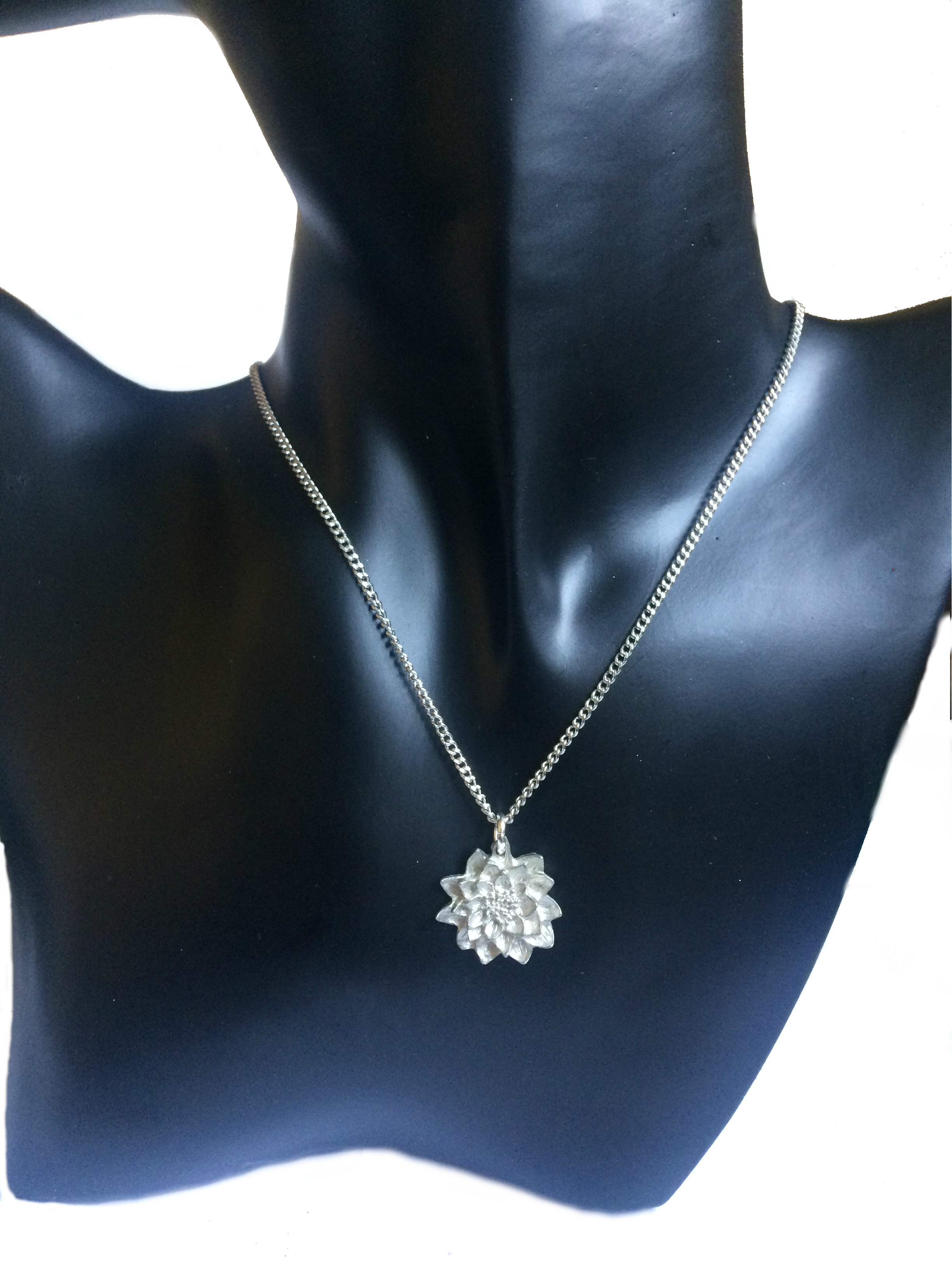 Water Lily Claude Monet Necklace And Earring Set Fine English Pewter