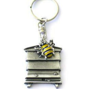 Bee and Beehive Keyring