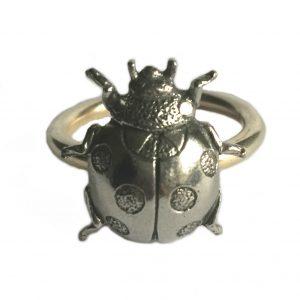 Ladybird Scarf Ring