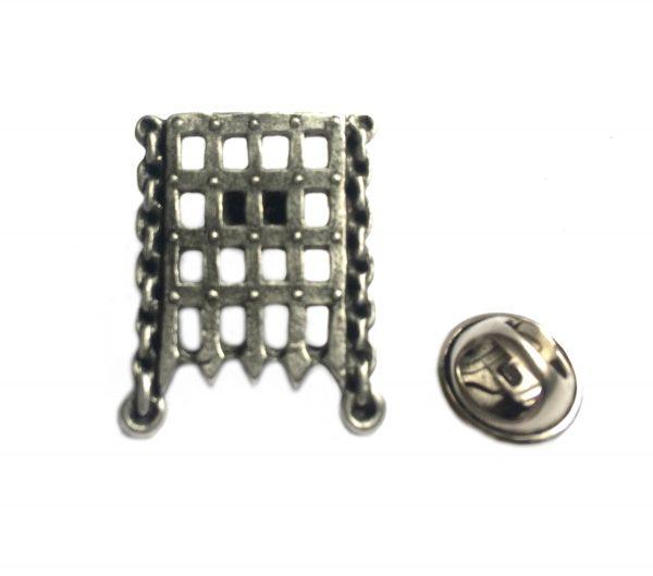 Portcullis Lapel Pin Badge