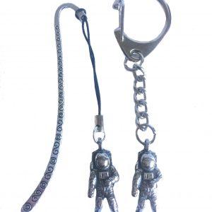 Astronaut Keyring and Bookmark Gift Set