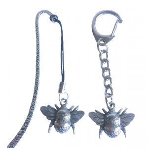 Bumble Bee Keyring and Bookmark Gift Set