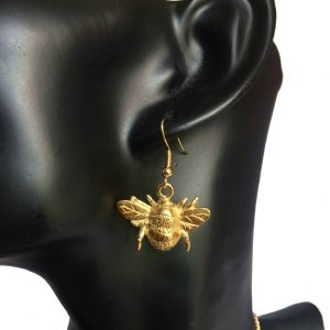 22ct Gold Plated Bumble Bee Earrings