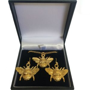 22ct Gold Plasted Bumble Bee Jewellery Set