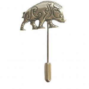 Celtic Boar Lapel Stick Pin