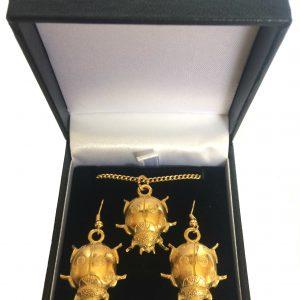 22ct Gold Plated Ladybird Jewellery Set