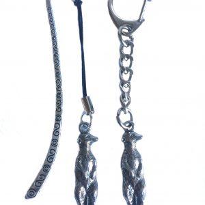 Meerkat Keyring and Bookmark Gift Set