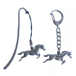 Running Horse Keyring and Bookmark Gift Set