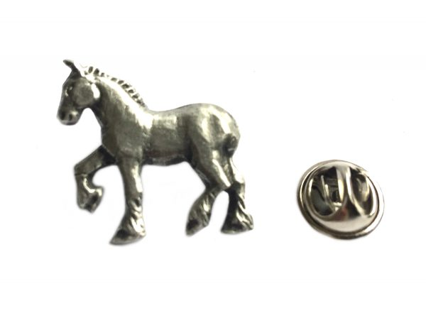 Shire Horse Lapel Pin Badge