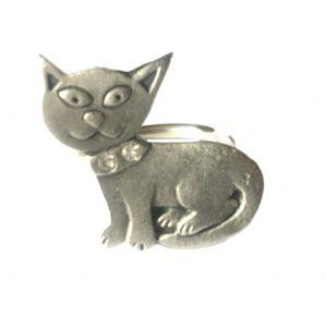 Cat Scarf Ring