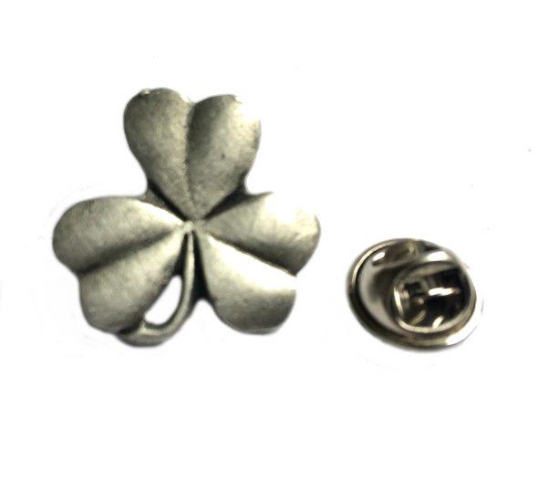 Lucky Shamrock Lapel Pin Badge