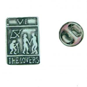 Tarot Card The Lovers Lapel Pin Badge