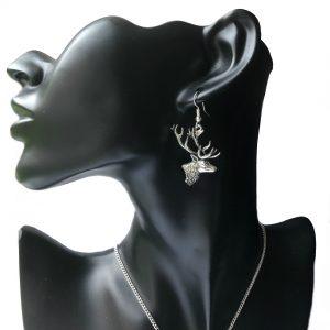 Stag Head Earrings