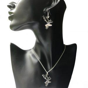 Stag Head Jewellery Set