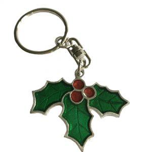 Christmas Holly Keyring
