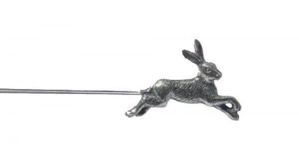 Running Hare Hat Pin