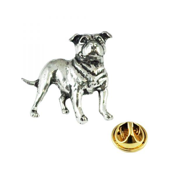 Stafford shire Bull Terrier Pin Badge